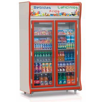 Geladeira/refrigerador 922 Litros 2 Portas Vermelho - Gelopar - 110v - Gevp-2p