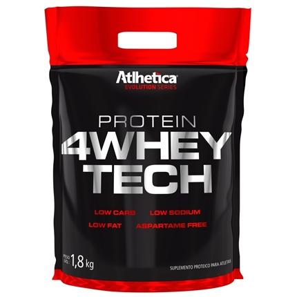 4 Whey Tech 1,8kg Pasta de Amendoim - Refil Atlhetica Nutrition