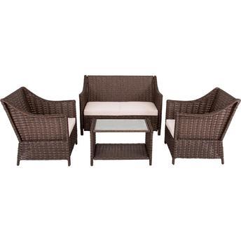 Conjunto de Mesa e Poltronas para Jardim Escuro Sf1204 Mainstays