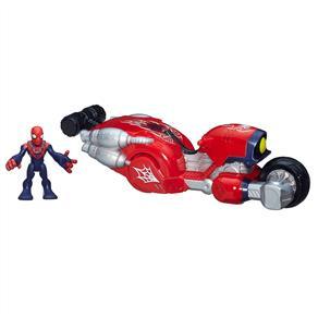 Figura Spider-man Com Aracnomoto Turbo Super Hero Playskool Hasbro