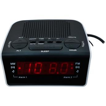 Rádio Relógio Motobras Preto Rmrrd21