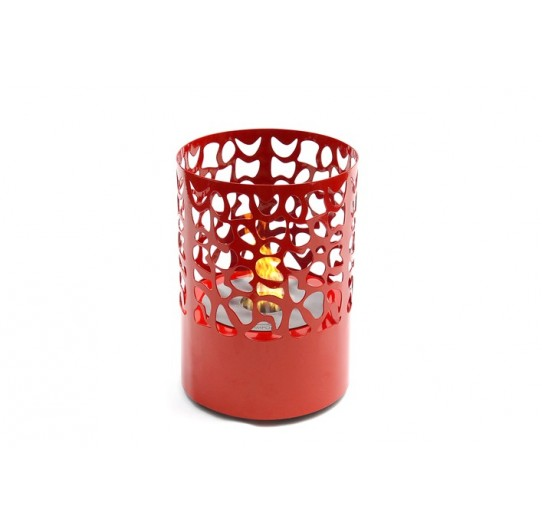 Lareira Ecológica Píton Redonda 1,2l - Vermelho K3 Imports