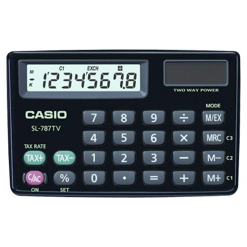 Calculadora de Bolso Eletrônica Sl787tvbk Casio