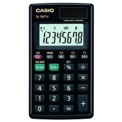 Calculadora Básica 8 Dígitos Preta Sl797tv Casio