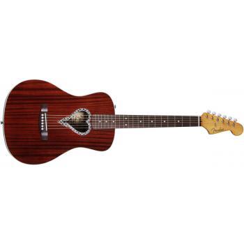 Violão Eletroacústico Alkaline Trio Malibu 6 Cordas Aço Natural - Fender