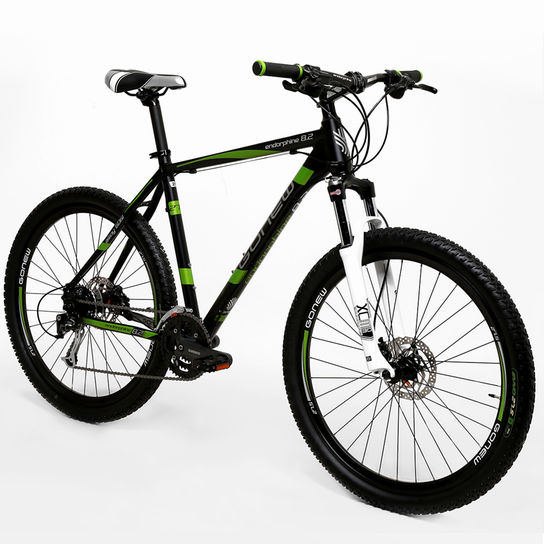 Bicicleta Gonew Endorphine 9.2 T17 Aro 27,5 Susp. Dianteira 27 Marchas - Preto/verde