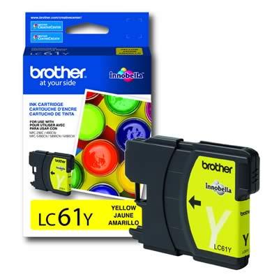 Cartucho Brother 5ml Amarelo Lc61y