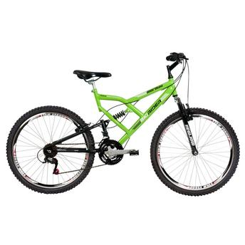 Bicicleta Mormaii Big Rider Aro 26 Full Suspensão 24 Marchas - Verde