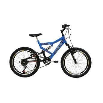 Bicicleta Mormaii Fa240 Aro 20 Full Suspensão - Azul