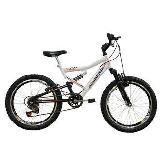 Bicicleta Mormaii Fa240 Aro 20 Full Suspensão 6 Marchas - Branco