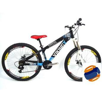 Bicicleta Vikingx Tuff 25 Aro 26 Susp. Dianteira 21 Marchas - Azul/preto