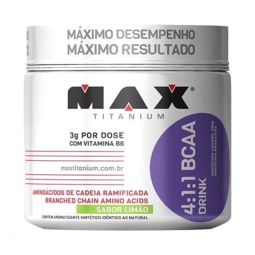 Bcaa Powder 4:1:1 Drink 280g Maracujá Max Titanium