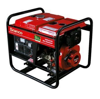 Gerador de Energia Gasolina 4500w Branco Monofásico Bivolt - B4t5000
