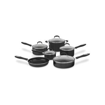 Conjunto de Panela Alumínio Antiaderente Advantage 11 Peças Preta Cuisinart