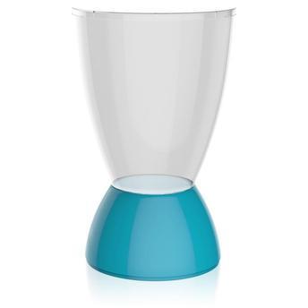 Banqueta Argo Assento Cristal Base Color Azul I'm In Home