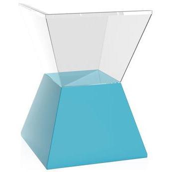 Banqueta Nitro Assento Cristal Base Color Azul I'm In Home