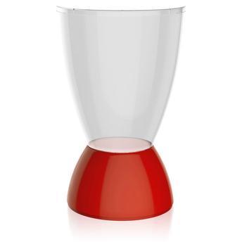 Banqueta Argo Assento Cristal Base Color Vermelha I'm In Home