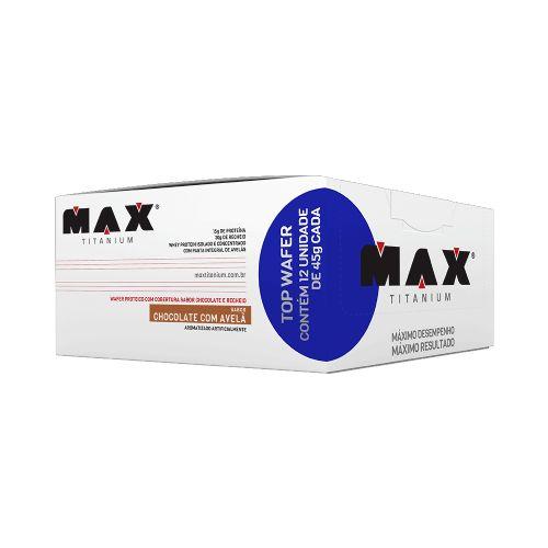 Top Wafer Chocolate Com Avelã - 12 Unidades Max Titanium