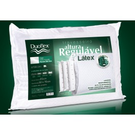 Travesseiro Duoflex 12 Látex Natural Regulavel 100% Látex 50 X 70cm