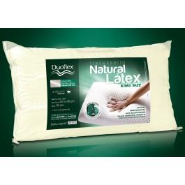 Travesseiro Duoflex Látex Natural King Size 100% Algodão 100% Poliéster 100% Poliuretano 50x90cm