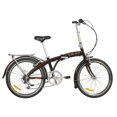 Bicicleta Blitz Fit Aro 24 Rígida 6 Marchas - Preto