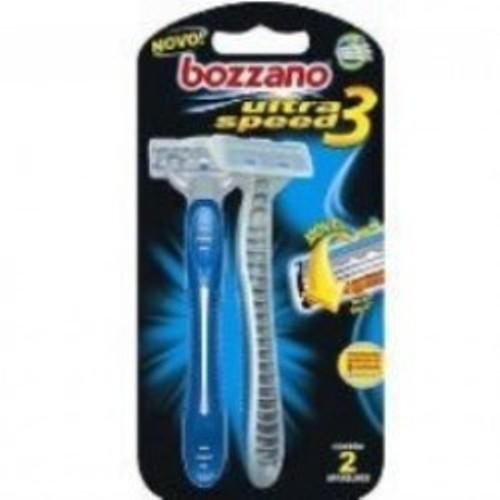 Aparelho de Barbear Bozzano Ultra Speed 3 2 Unidades