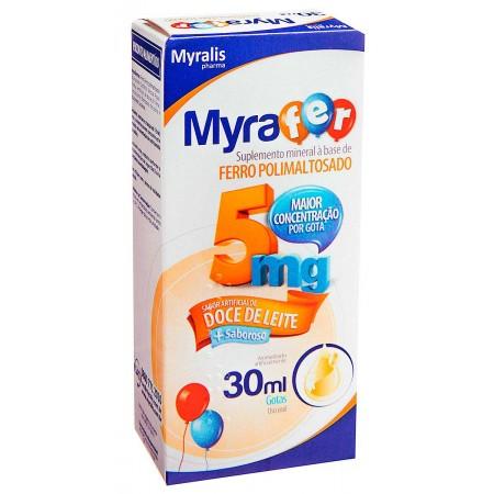 Myralis Pharma Myrafer 30ml Doce de Leite