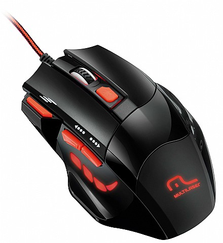 Mouse Usb Óptico Led 2400 Dpis Xgamer Fire Button Mo236 Multilaser