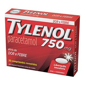 Tylenol 750mg Cx 20 Comp Rev - Paracetamol - Janssen-cilag/j&j