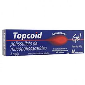 Topcoid 5mg Gel Bg 40g - Propilparabeno - Uniao Quimica