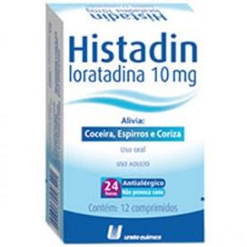 Histadin 10mg Cx 12 Comp - Loratadina - Uniao Quimica