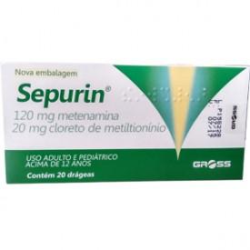 Sepurin 120 + 20mg Cx 20 Drg - Matenamina + Metitioninio - Gross