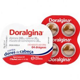 Doralgina Cx 20 Drg - Isomepteno + Dipirona Sodica + Cafeina - Neo Quimica