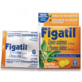 Figatil Cx 20 Drg - Cynara Scolymus + Associacoes - Catarinense