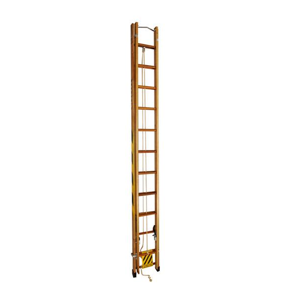 Escada de Madeira Extensível 12 Degraus Exm600 W Bertolo