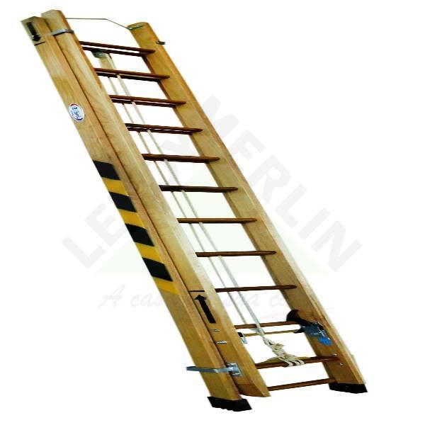 Escada de Madeira Extensível 24 Degraus Exm720 W Bertolo