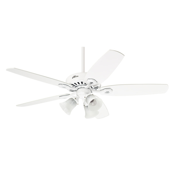 Ventilador de Teto 5 Pás Hunter Plus Branco 132cm - 220v