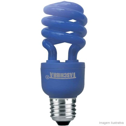 Lâmpada Taschibra Fluorescente Azul 14w 220v - 7897079028003