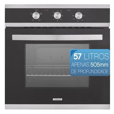 Forno 57l de Embutir Tramontina Preto - Elétrico - Glass Brasil B60 F3 - 220v - 94865/220