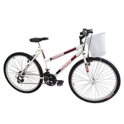Bicicleta Track&bikes Thunder Aro 26 Rígida 18 Marchas - Branco