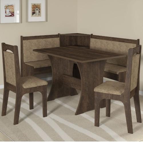 Conjunto de Mesa e Cadeira Canto Alemão 2 Cadeiras Sonetto