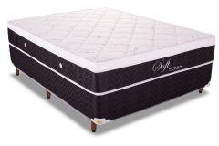 Colchão Polar Soft Black 158x198x28cm Molas Pocket Queen Size