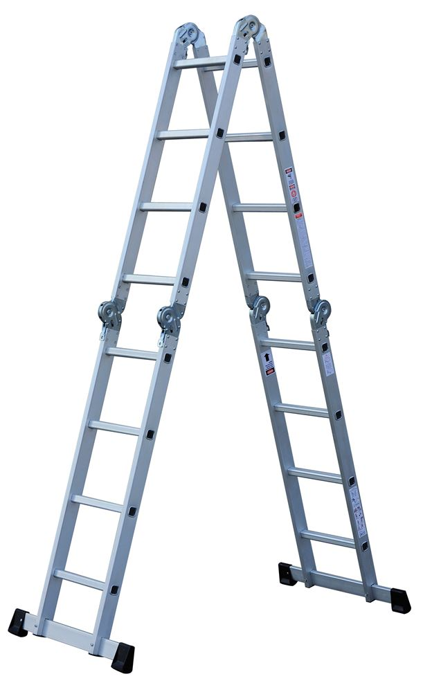 Escada de Alumínio Multifuncional 4x4 16 Degraus E0116 Toolmix