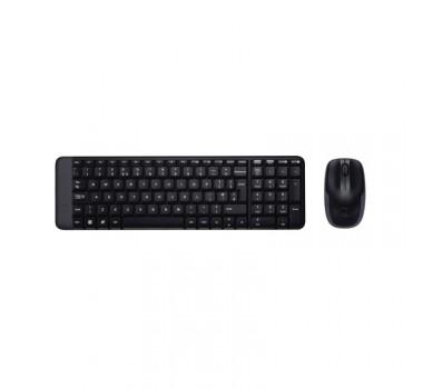 Kit Teclado e Mouse Wireless Óptico Led 1000 Dpis Mk220 920-004431 Logitech