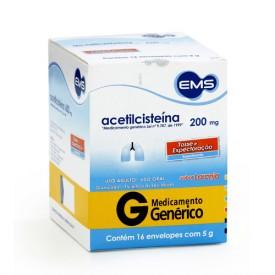 Acetilcisteina 200mg Cx 16 Env X 5g - Acetilcisteina - Ems
