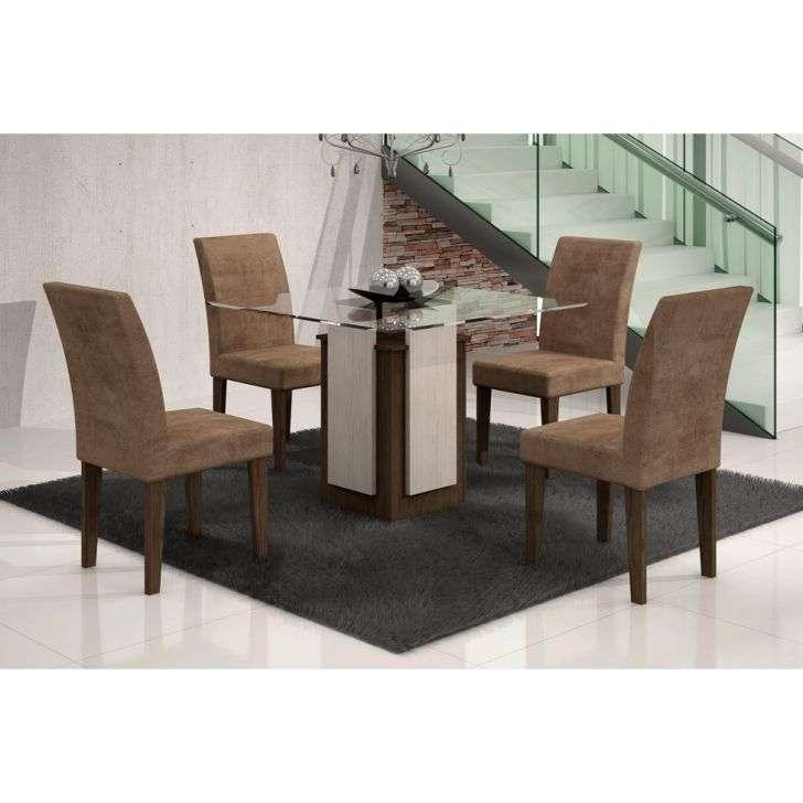 Conjunto de Mesa e Cadeira Amsterdã/ 4 Cadeiras Grécia Rufato