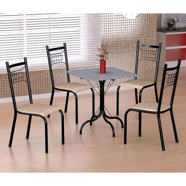 Conjunto de Mesa e Cadeira Málaga/ 4 Cadeiras Lisboa Fabone