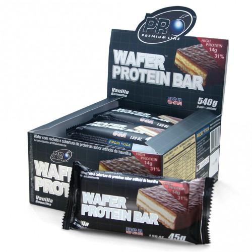 Wafer Protein Bar Chocolate Com Avelã - 12 Unidades Probiotica