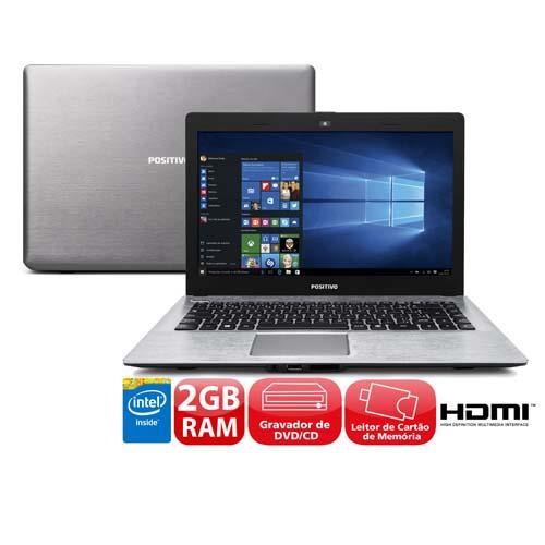 Notebook - Positivo Xr3525 Celeron N2808 1.58ghz 2gb 500gb Intel Hd Graphics Windows 10 14