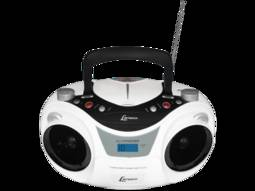 Rádio Portátil Com Cd Lenoxx Sound Branco/preto 6 W Rms - Bd1250